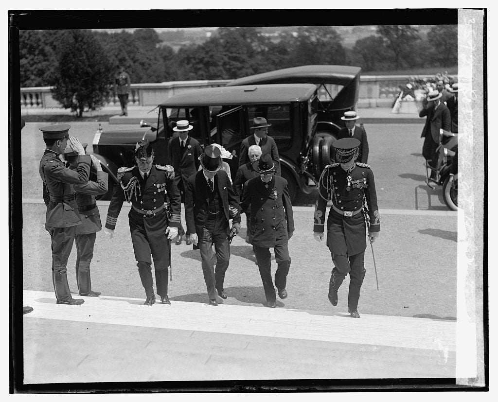 16 x 20 Gallery Wrapped Frame Art Canvas Print of Coolidge at Arlington, 5/20/25 1925 National Photo Co  24a