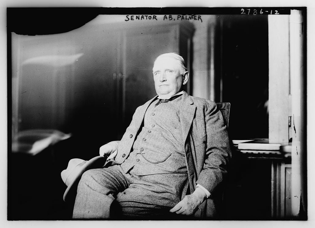 8 x 10 Photo of Senator Ab. Palmer 1913 G. Bain Collection 79a