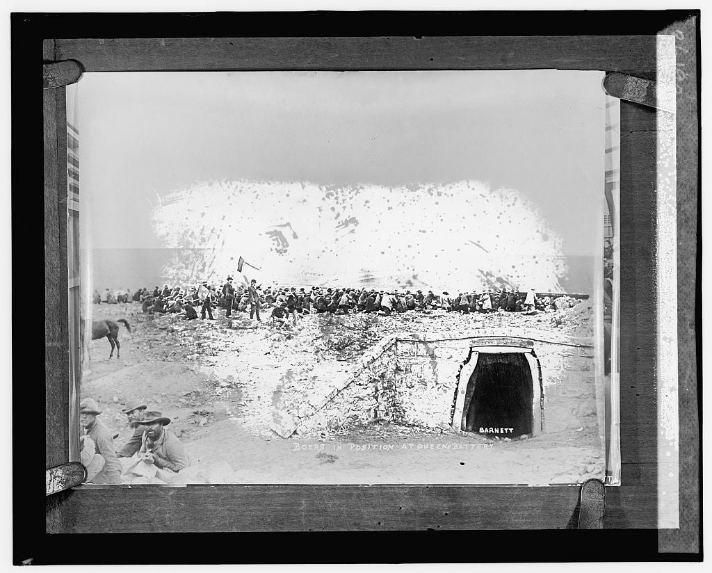 16 x 20 Reprinted Old Photo ofBoers in position at Queen's battery; Barnett 1925 National Photo Co  37a