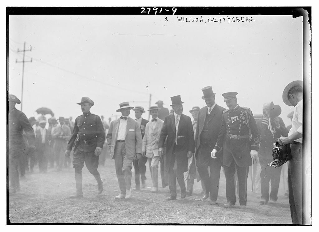 8 x 10 Photo of Wilson, Gettysburg 1913 G. Bain Collection 11a