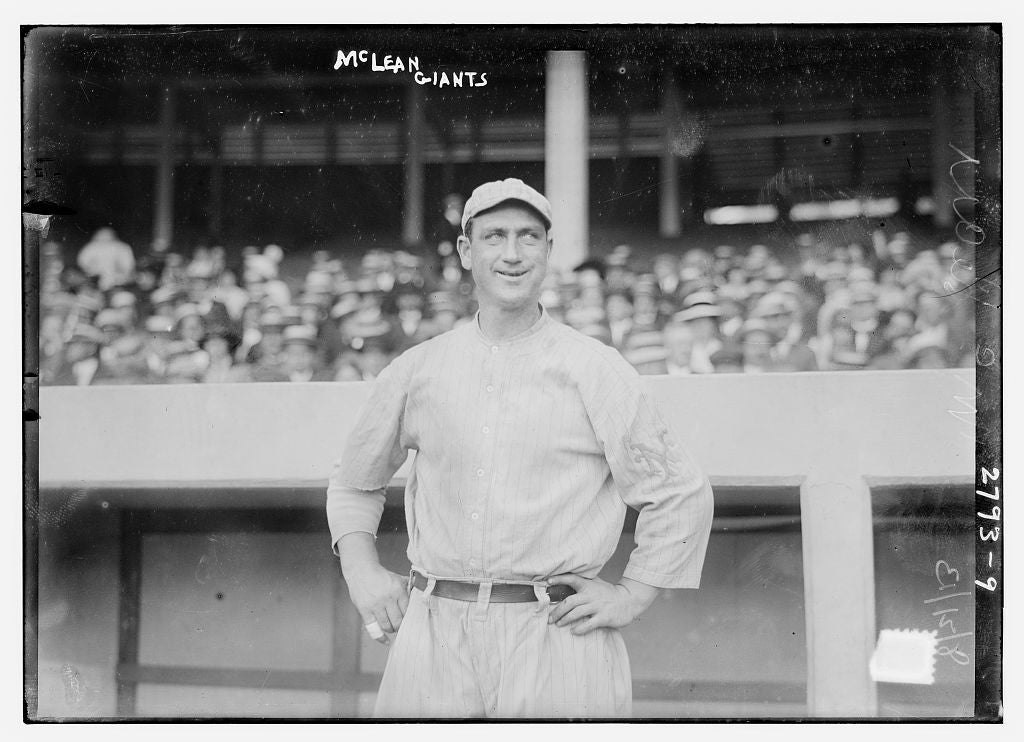 8 x 10 Photo of Larry McLean, New York NL baseball  1913 G. Bain Collection 28a