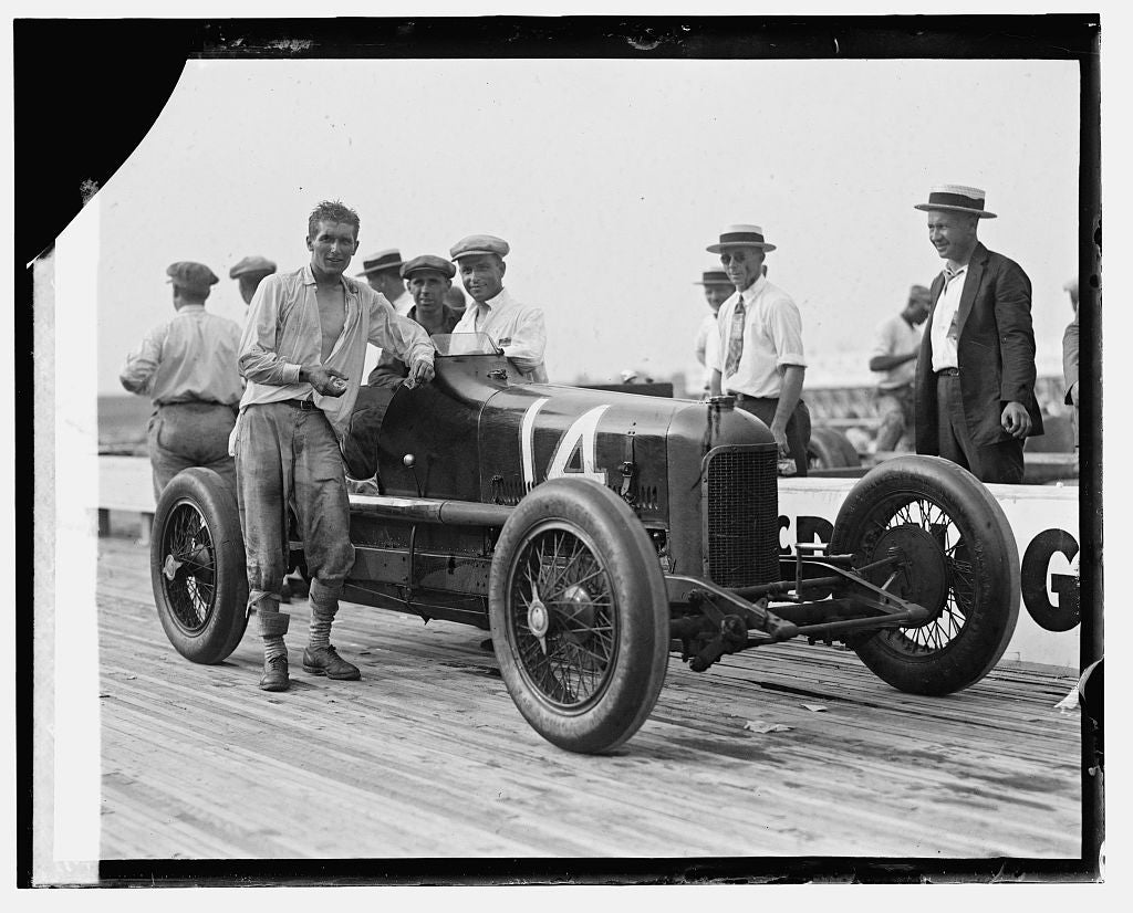16 x 20 Reprinted Old Photo ofBob McDonough, Laurel race, 7/11/25 1925 National Photo Co  19a