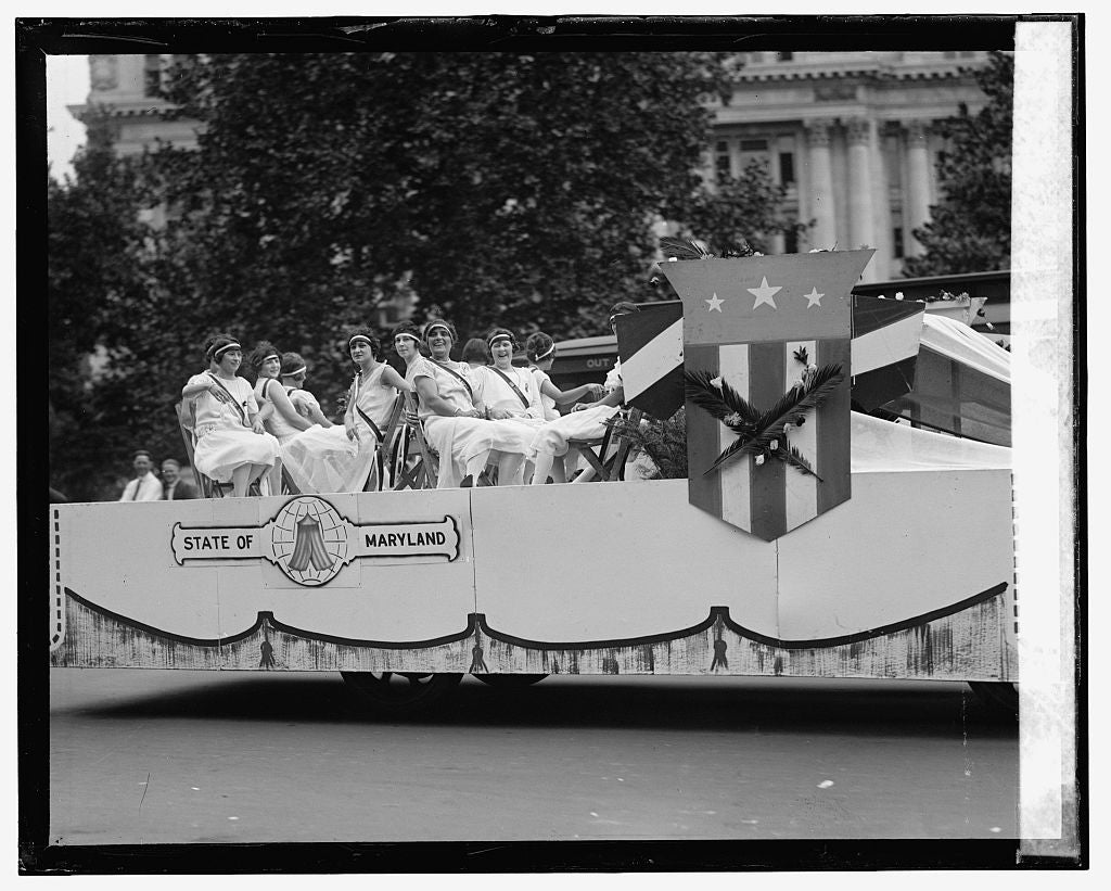 16 x 20 Reprinted Old Photo ofMaccabee parade, 7/20/25 1925 National Photo Co  76a