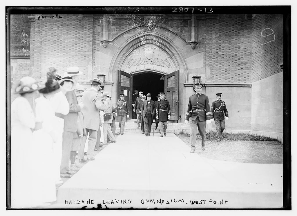 8 x 10 Photo of Haldane leaving gymnasium, West Point 1913 G. Bain Collection 99a
