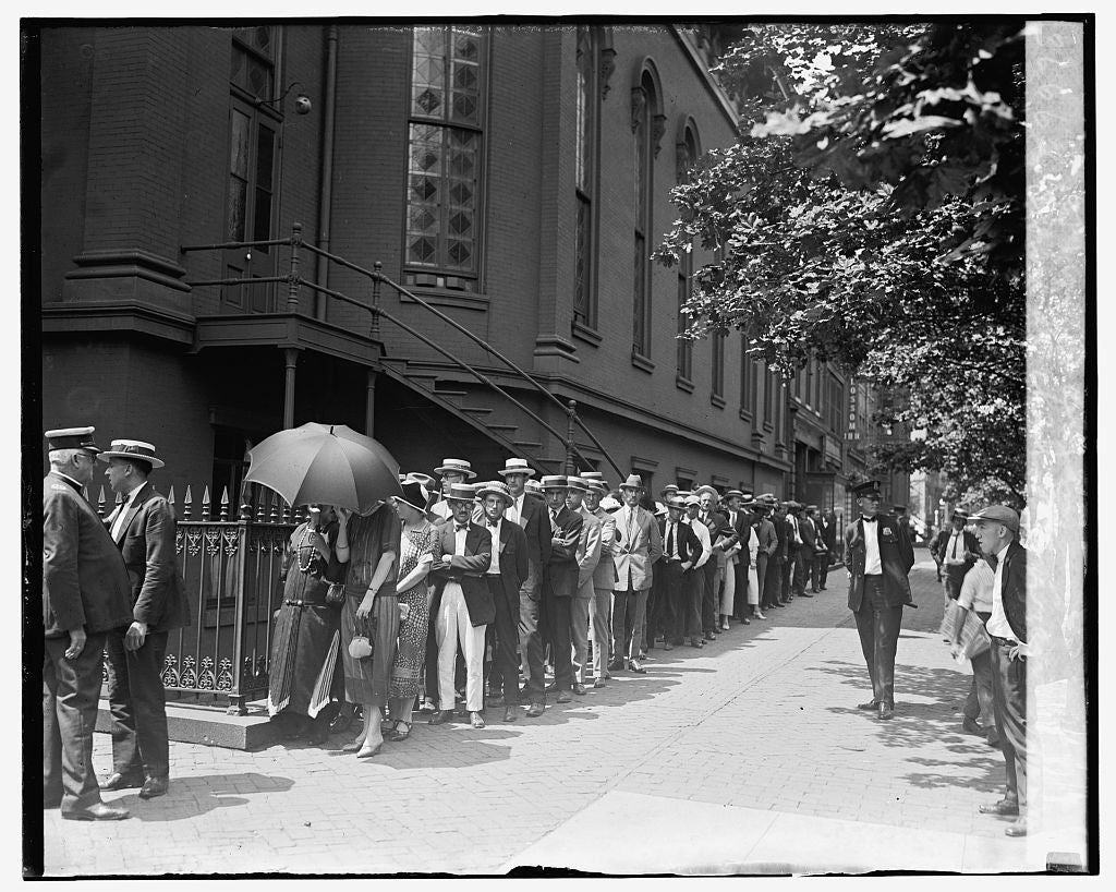 16 x 20 Reprinted Old Photo ofCrowd at church to view body of Wm. J. Bryan, 7/30/25 1925 National Photo Co  22a