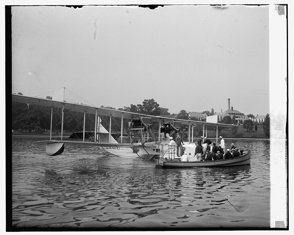 16 x 20 Reprinted Old Photo ofFirst flight of middies at Annapolis, 8/7/25 1925 National Photo Co  58a