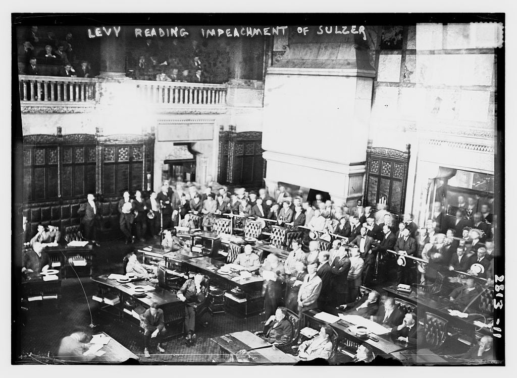 8 x 10 Photo of Levy reading impeachment of Sulzer 1913 G. Bain Collection 25a