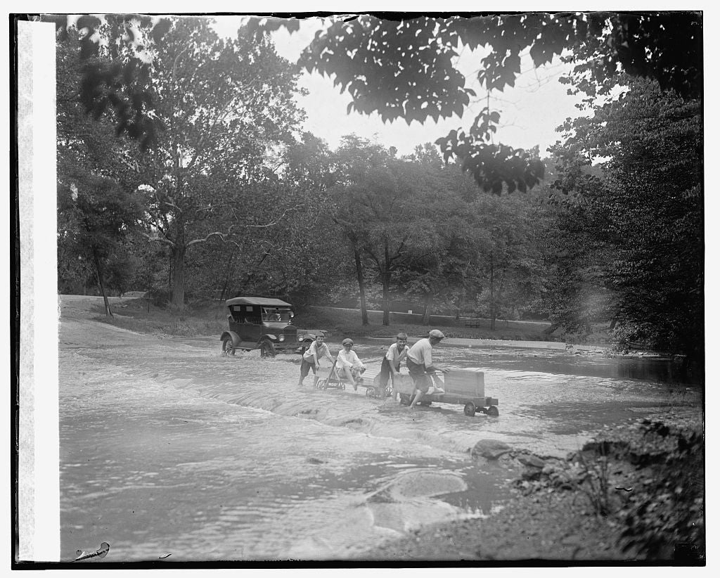 16 x 20 Reprinted Old Photo ofFord in Rock Creek, 8/14/24 1925 National Photo Co  96a