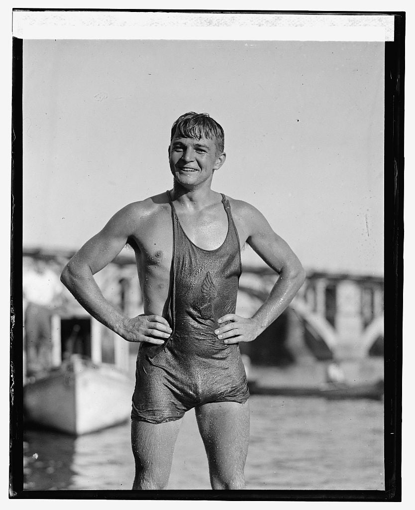 16 x 20 Reprinted Old Photo ofClarence Ross, N.Y. Athletic Club, 8/22/25 1925 National Photo Co  28a