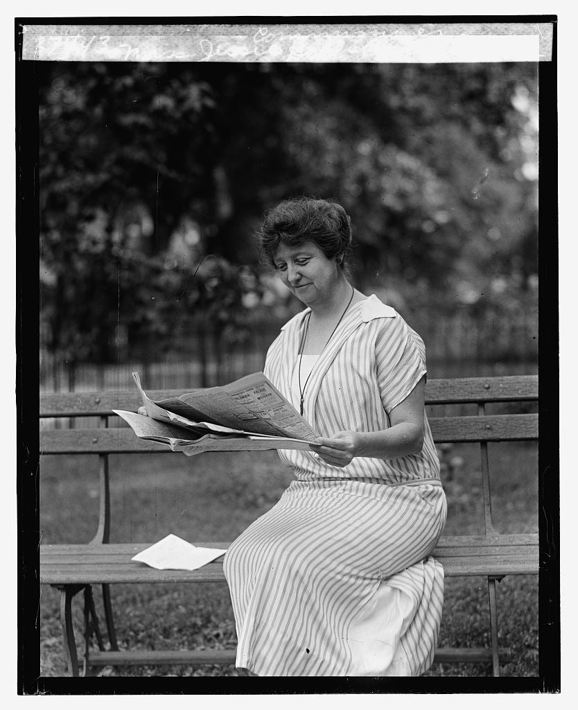 16 x 20 Reprinted Old Photo ofMiss Jessie Dell, Civil Service Commissioner, 9/18/25 1925 National Photo Co  70a