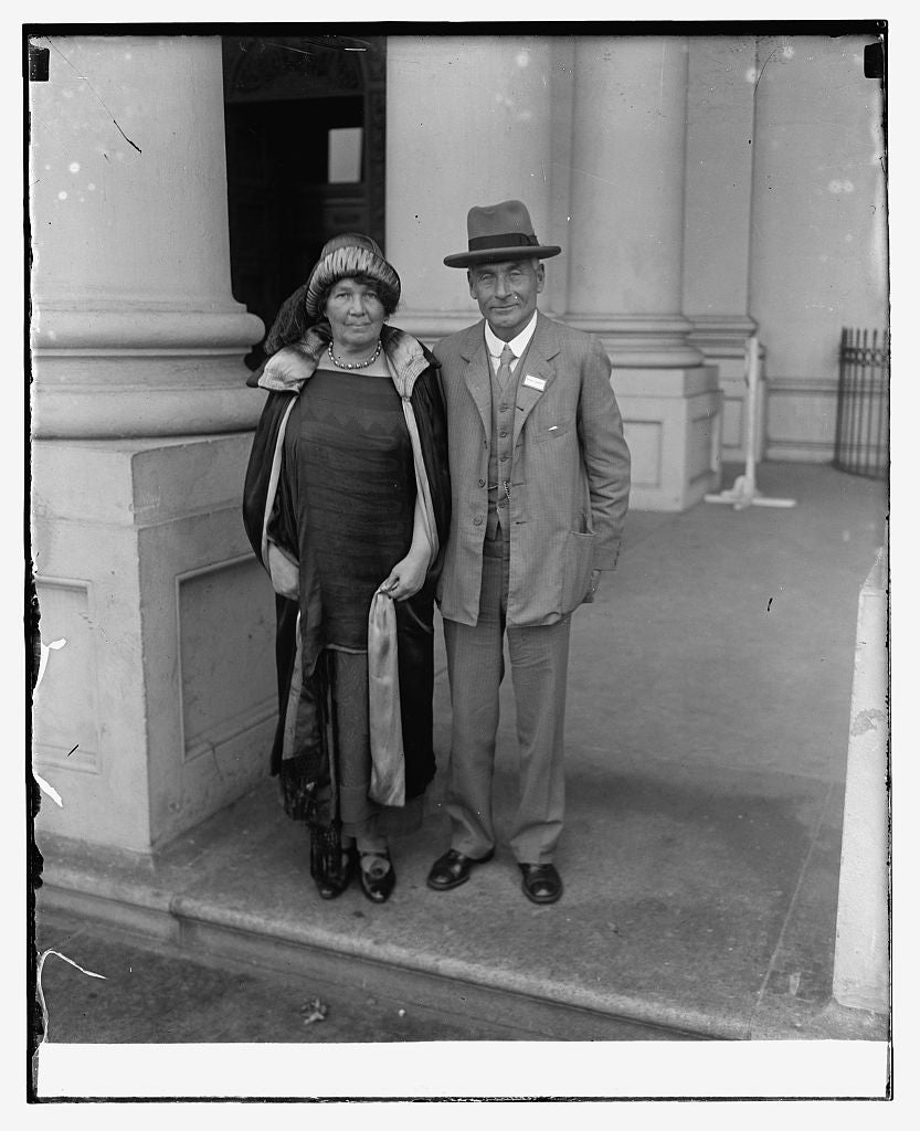 16 x 20 Reprinted Old Photo ofMr. & Mrs. F.W. Pethick-Lawrence of Great Britain, 10/2/25 1925 National Photo Co  40a