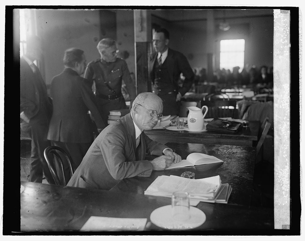 16 x 20 Reprinted Old Photo ofAlexander H. Taft, official court reporter at Mitchell Court Martial, 10/29/25 1925 National Photo Co  95a