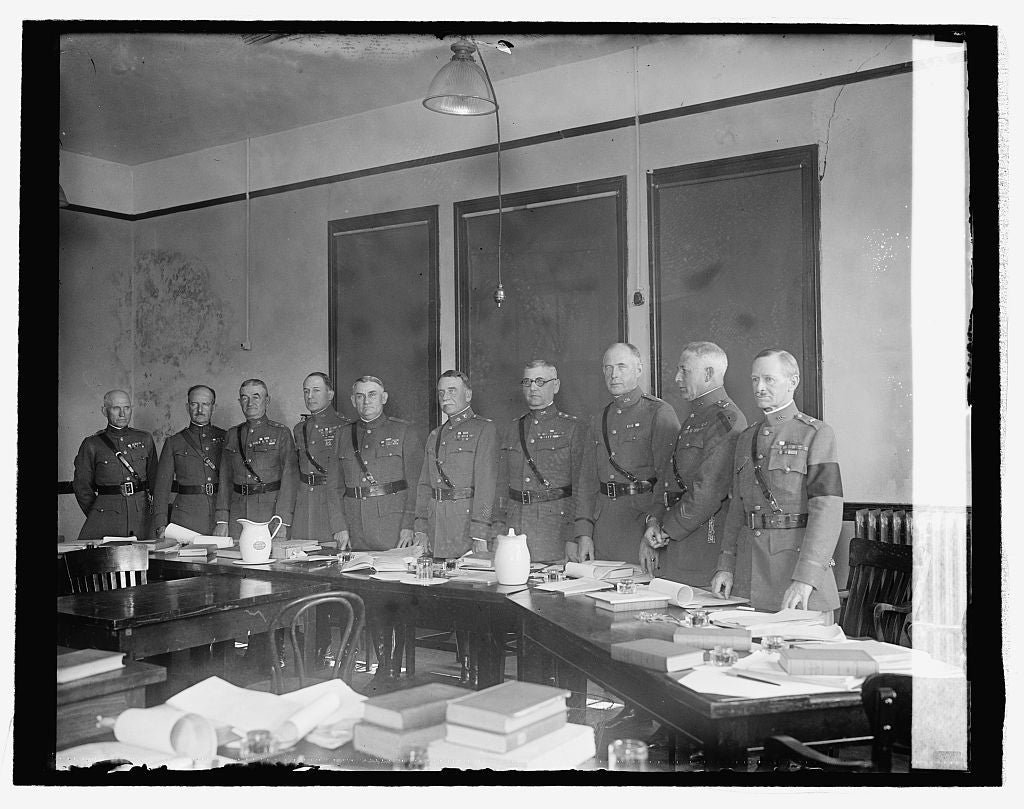 16 x 20 Reprinted Old Photo ofMembers of court trying Col. Mitchell, 10/28/25 1925 National Photo Co  10a