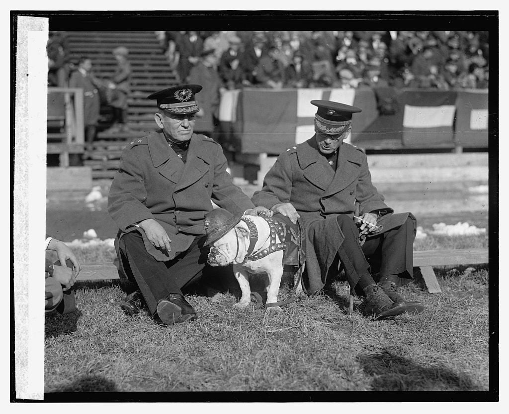 16 x 20 Reprinted Old Photo ofGen. Lejeune & Gen. Eli Cole at C.U. - Quantico Marine game, 10/31/25 1925 National Photo Co  94a