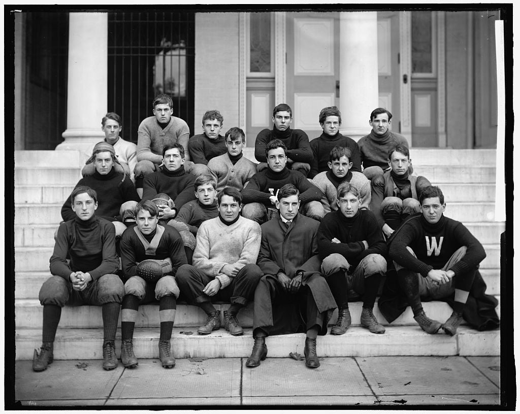 8 x 10 Reprinted Old Photo of Western High Football 1905-45 Harris & Ewing 32a