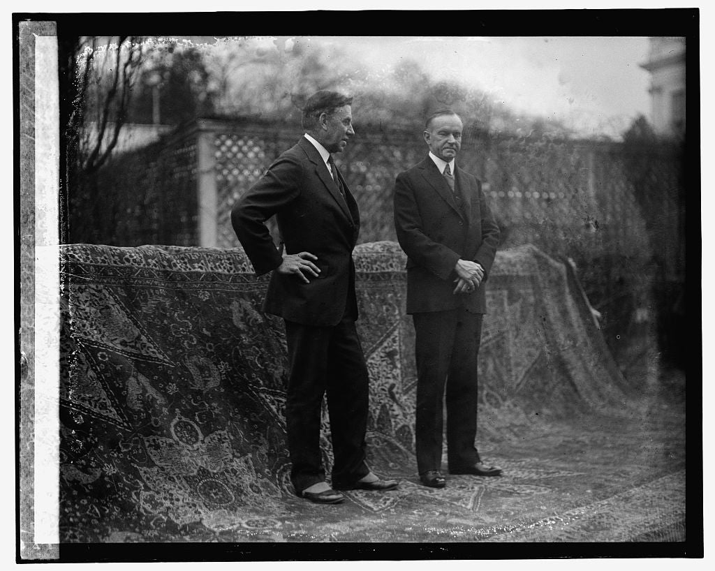 16 x 20 Gallery Wrapped Frame Art Canvas Print of Pres. Coolidge & Dr. J.H. Hinley, Near East Relief Com., 12/4/25 1925 National Photo Co  04a