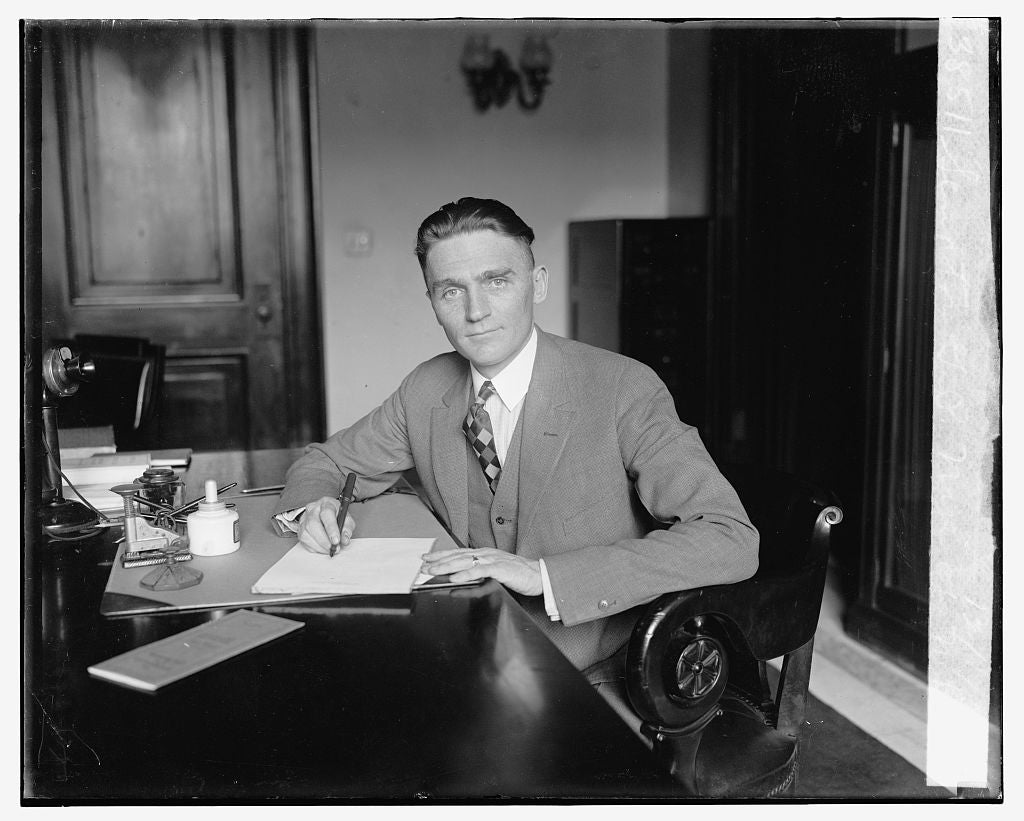 16 x 20 Gallery Wrapped Frame Art Canvas Print of Senator G.P. Nye of N.D., 12/1/25 1925 National Photo Co  44a