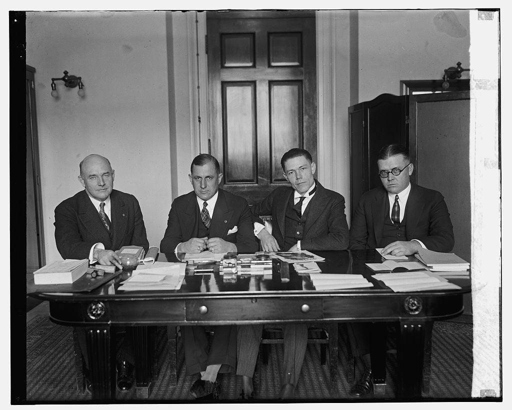 16 x 20 Gallery Wrapped Frame Art Canvas Print of Reps. W.R. Coyle, S. Appleby, R.E. Updike, S.J. Montgomery, 12/7/25 1925 National Photo Co  54a