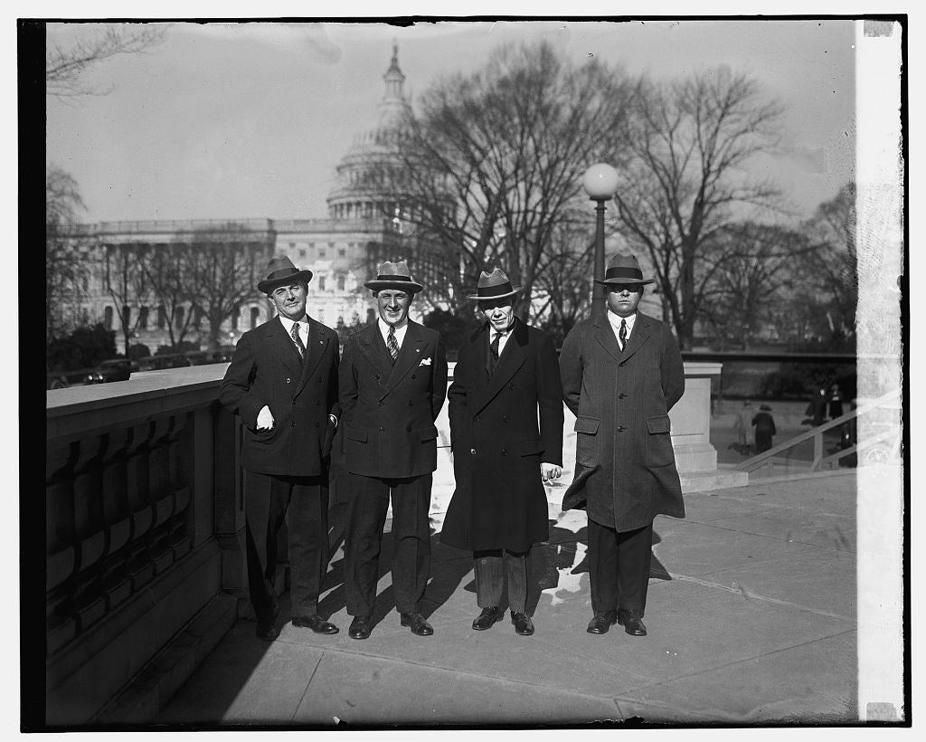16 x 20 Gallery Wrapped Frame Art Canvas Print of Reps. W.R. Coyle, S. Appleby, R.E. Updike, S.J. Montgomery, 12/7/25 1925 National Photo Co  21a