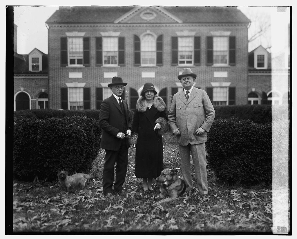 16 x 20 Gallery Wrapped Frame Art Canvas Print of Sen. & Mrs. Underwood and Col. S.S. Underwood, 12/17/25 1925 National Photo Co  26a