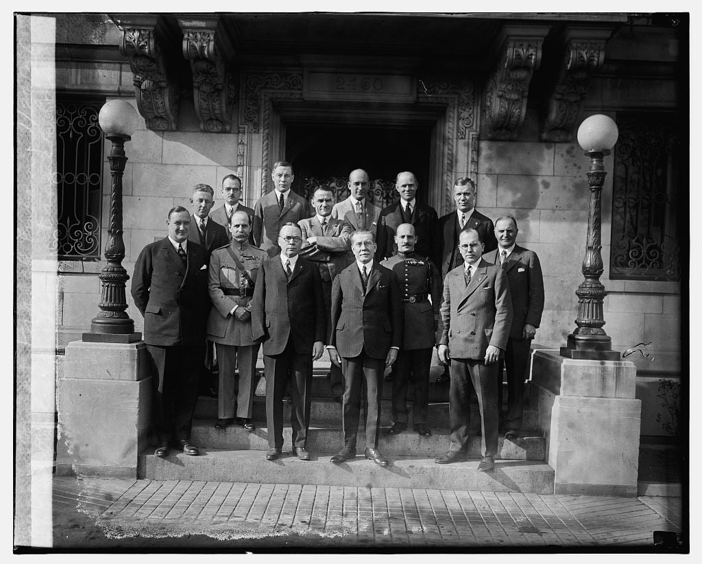 16 x 20 Reprinted Old Photo ofAmerican Legion France Con. Com. at French Embassy, 1/20/26 1926 National Photo Co  42a