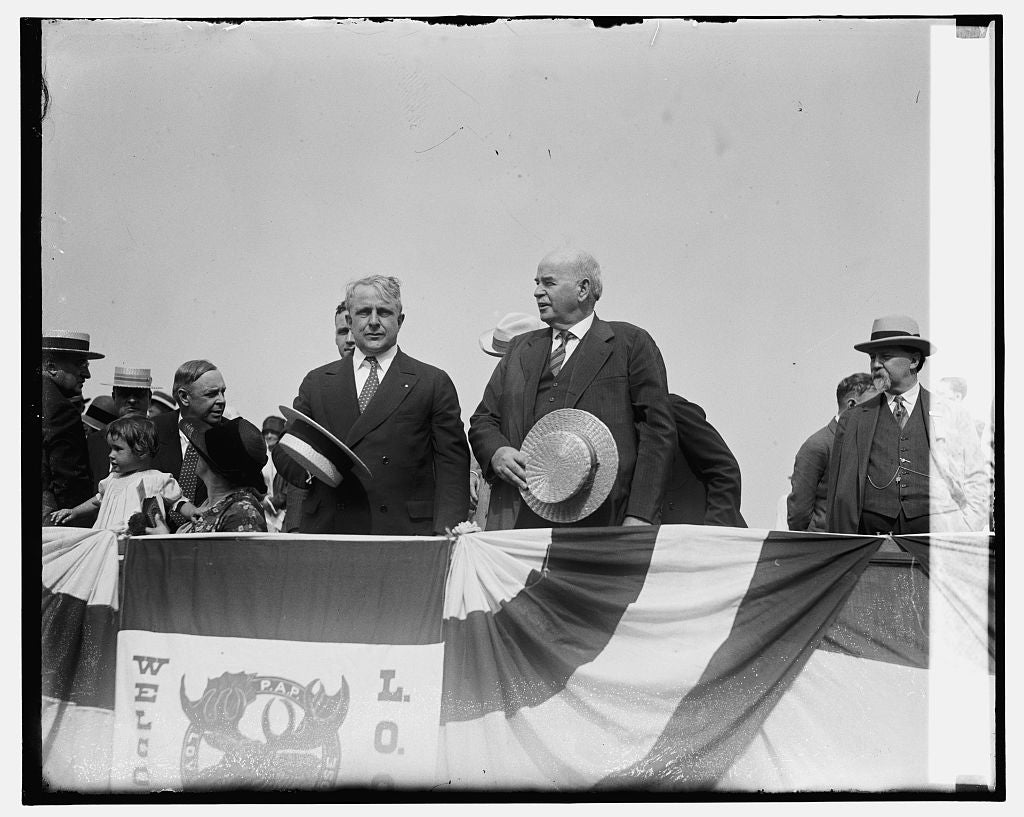 16 x 20 Gallery Wrapped Frame Art Canvas Print of Sec. Davis & Gov. Sinall, 7/7/26 1926 National Photo Co  41a
