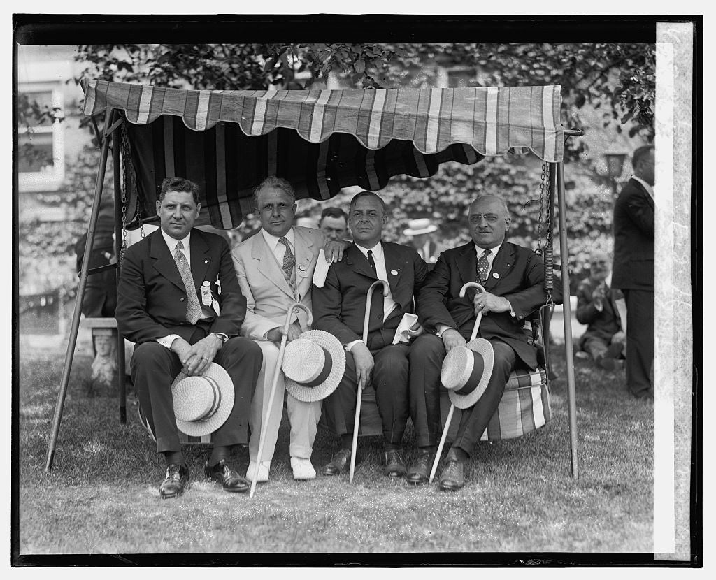 16 x 20 Gallery Wrapped Frame Art Canvas Print of A.H. Ladner Jr., J.J. Davis, R.W.E. Douglas, E.J. Henning at Mooseheart, 7/7/26 1926 National Photo Co  91a