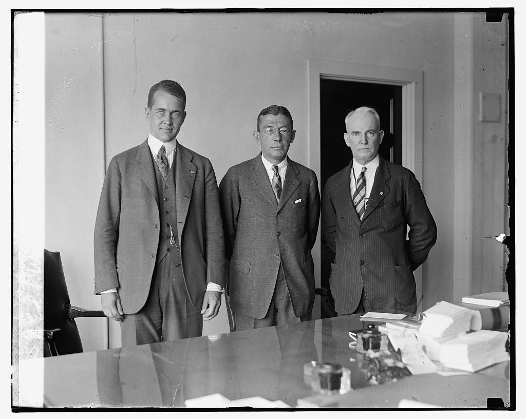 16 x 20 Gallery Wrapped Frame Art Canvas Print of Ed. P. Warner, T.D. Robinson & Adm. Wm. A. Moffett, 7/12/26 1926 National Photo Co  03a