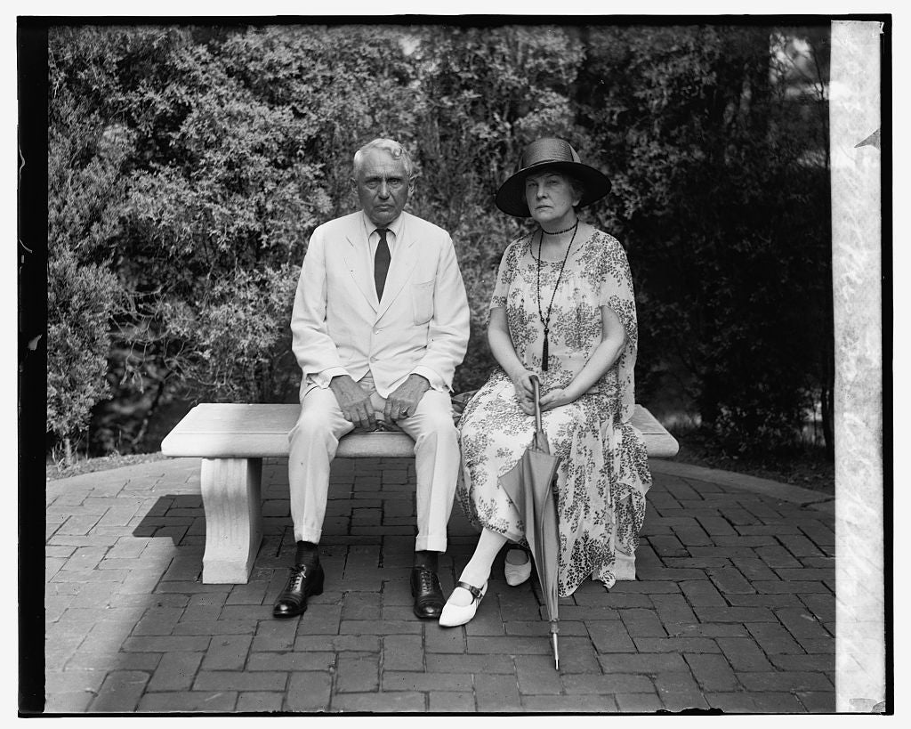 16 x 20 Gallery Wrapped Frame Art Canvas Print of Mr. & Mrs. Frank B. Kellogg, 8/6/26 1926 National Photo Co  62a