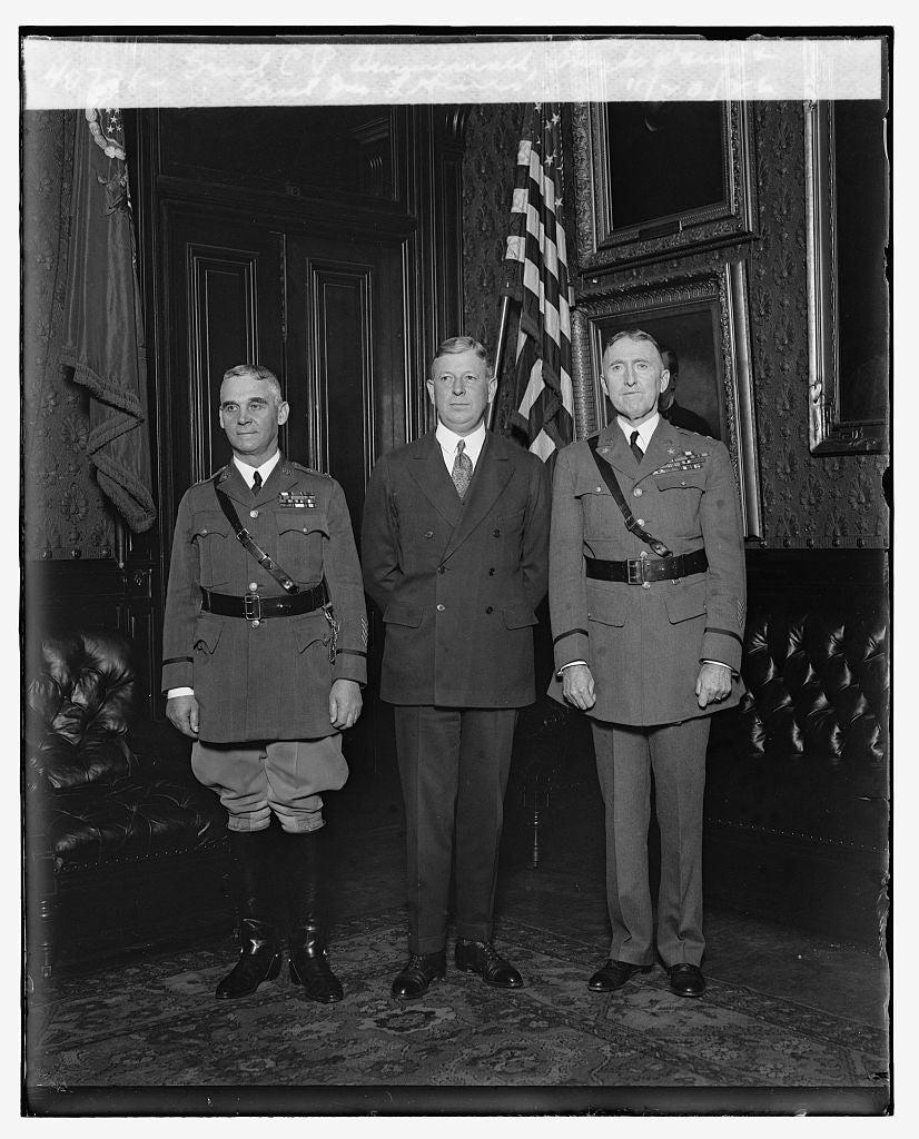 16 x 20 Reprinted Old Photo ofGen'l C.P. Summerrall, Dwight Davis & Gen'l Jus. L. Hines, 11/20/26 1926 National Photo Co  96a