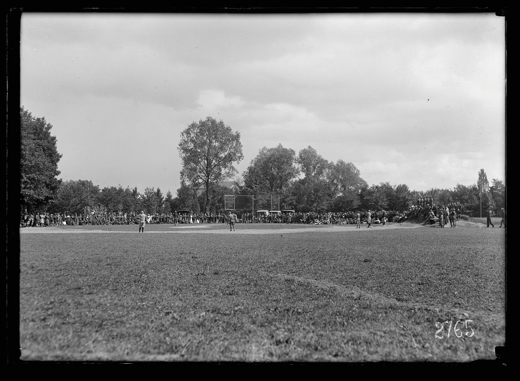 8 x 12 Reprinted Photo of Baseball Field Furnished by Red Cross. The American Red Cross built this baseball field near an American hospital thus carrying out its policy of providing o 321 BB_