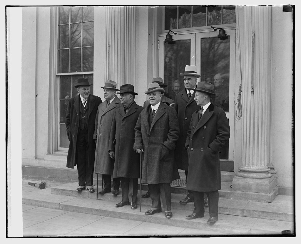 16 x 20 Reprinted Old Photo ofCong. Delegation at W.H., 2/13/29 1929 National Photo Co  59a