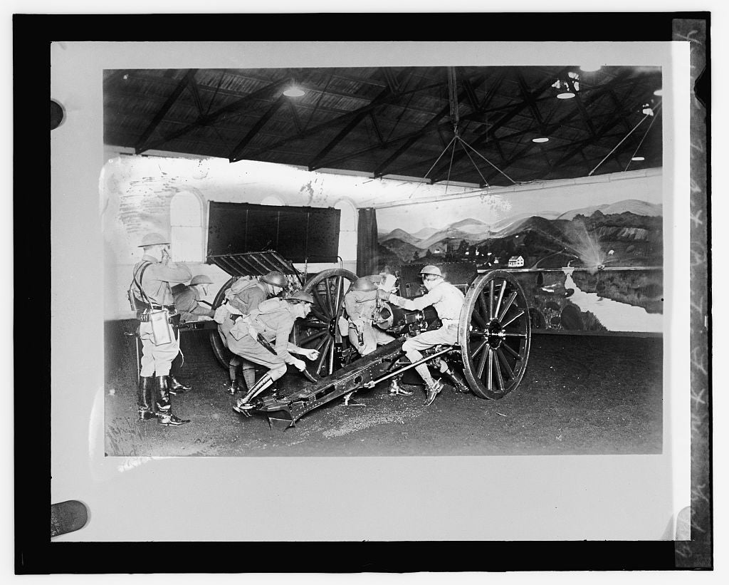 16 x 20 Reprinted Old Photo ofTarget practice, Fort Myer, 2/20/29 1929 National Photo Co  63a