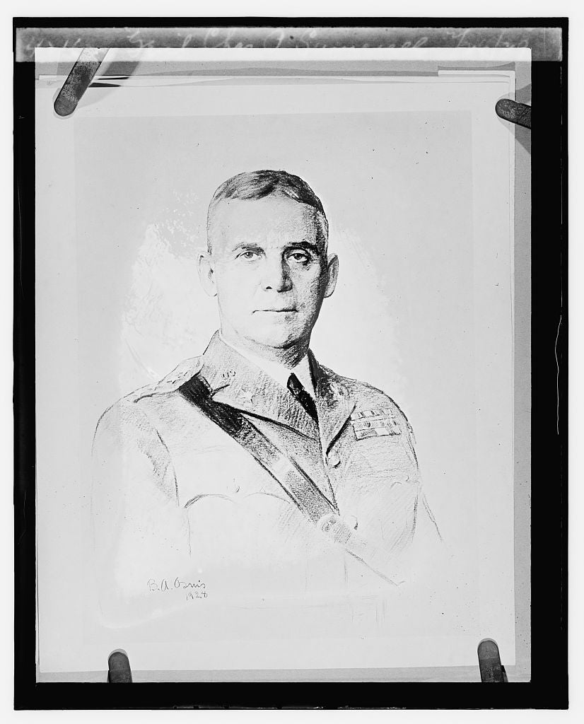 16 x 20 Reprinted Old Photo ofGen'l Chas. P. Sumerall, 2/26/29 1929 National Photo Co  70a