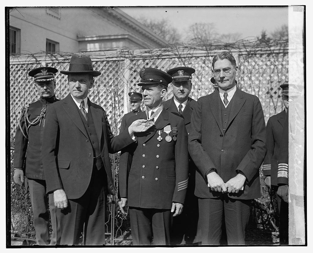 16 x 20 Reprinted Old Photo ofCoolidge, Crilley, Wilbur, 2/15/29 1929 National Photo Co  83a