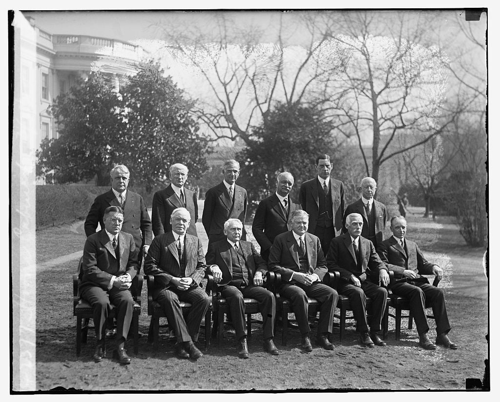 16 x 20 Reprinted Old Photo ofHoover Cabinet, 3/8/29 1929 National Photo Co  30a