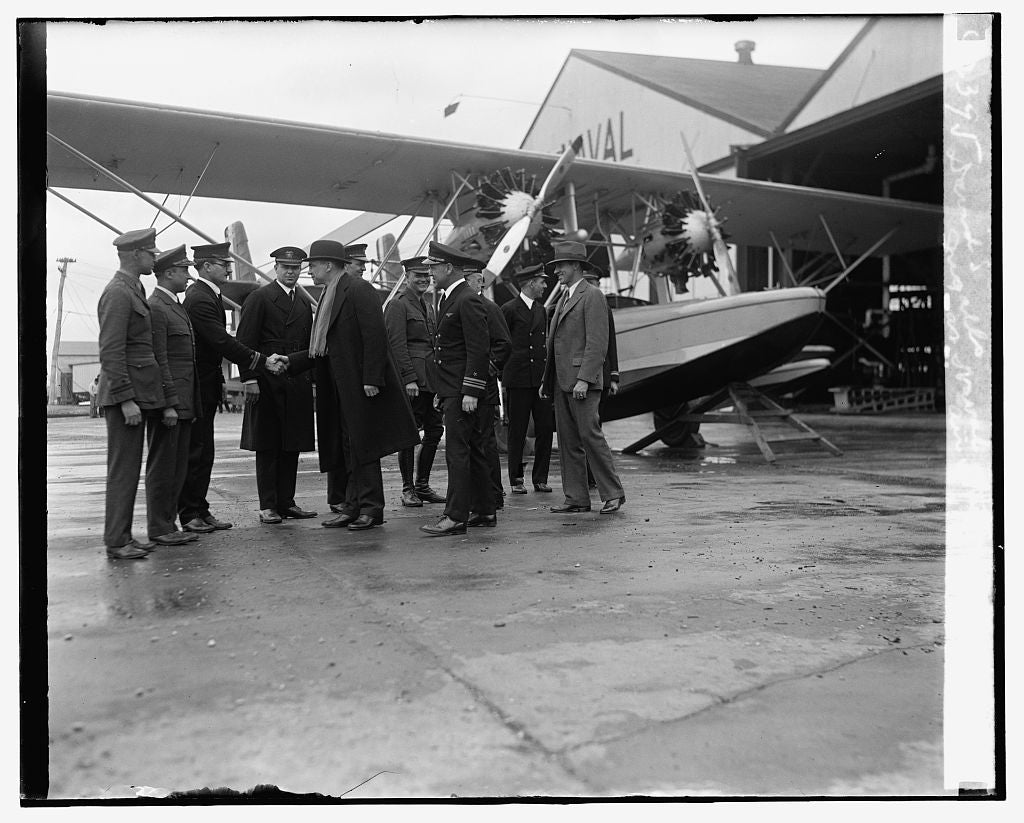 16 x 20 Reprinted Old Photo ofDavid S. Ingalls at Naval Air Station, 3/15/29 1929 National Photo Co  48a