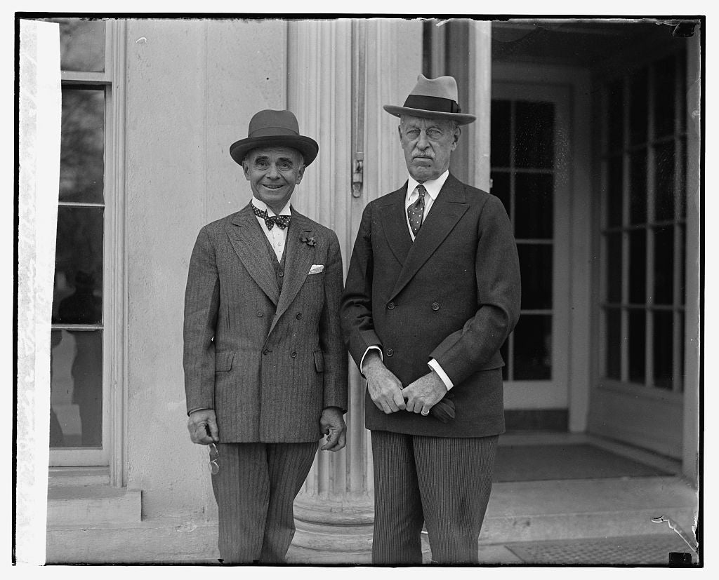 16 x 20 Reprinted Old Photo ofJudge Francis T. Burke, Gen'l W.W. Atterberry, 3/29/29 1929 National Photo Co  00a
