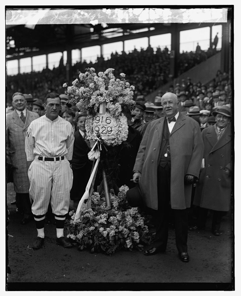 16 x 20 Reprinted Old Photo ofJoe Judge, Opening game, 4/17/29 1929 National Photo Co  36a