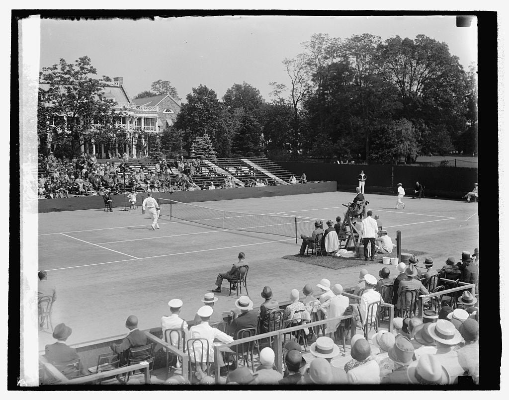 16 x 20 Reprinted Old Photo ofDavis Cup matches, 5/23/29 1929 National Photo Co  44a