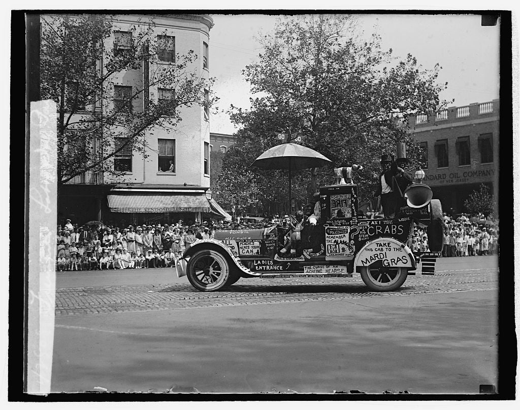16 x 20 Reprinted Old Photo ofFiremen's Labor Day parade 1929 National Photo Co  51a