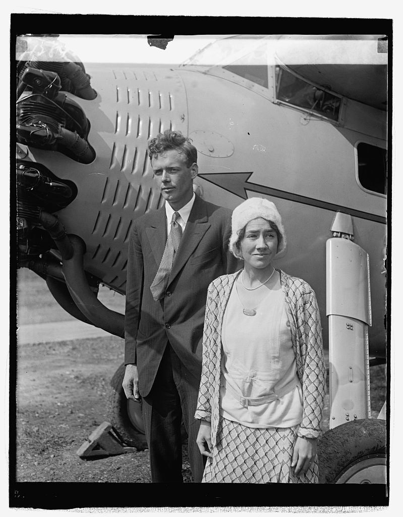 16 x 20 Reprinted Old Photo ofLindbergh & wife, 9/18/29 1929 National Photo Co  87a