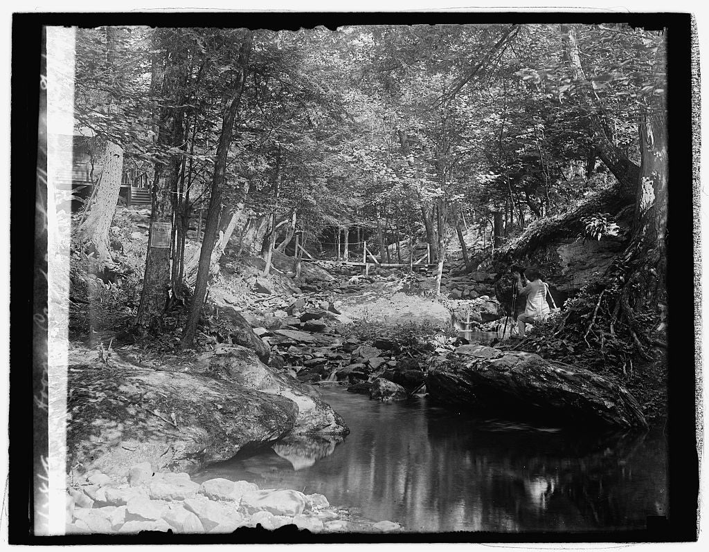 16 x 20 Reprinted Old Photo ofHoover camp on the Rapidan, 8/17/29 1929 National Photo Co  06a