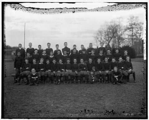 8 x 10 Reprinted Old Photo of Woo Football Squad 1905-45 Harris & Ewing 63a