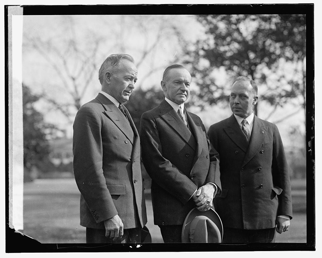 16 x 20 Gallery Wrapped Frame Art Canvas Print of Coolidge and 2 men 1921 National Photo Co  98a