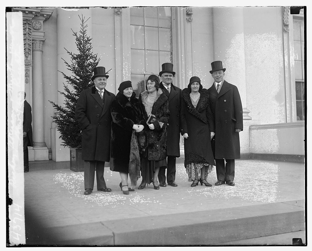 16 x 20 Gallery Wrapped Frame Art Canvas Print of Richey, Akerson, & Newton Marine, New Year Reception 1921 National Photo Co  08a