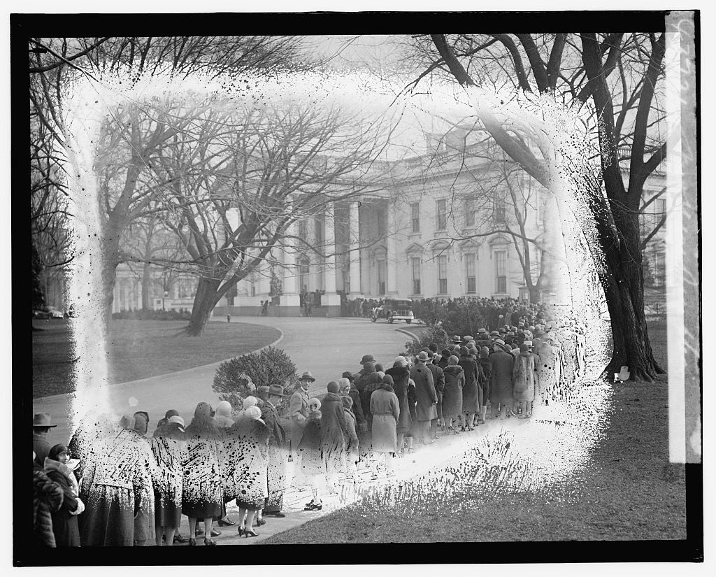 16 x 20 Gallery Wrapped Frame Art Canvas Print of New Year Reception 1921 National Photo Co  67a