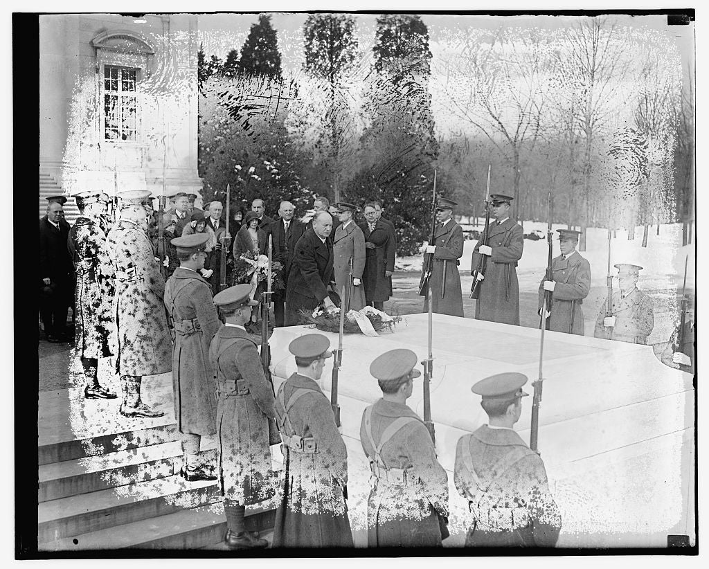 16 x 20 Gallery Wrapped Frame Art Canvas Print of Funeral? 1921 National Photo Co  15a