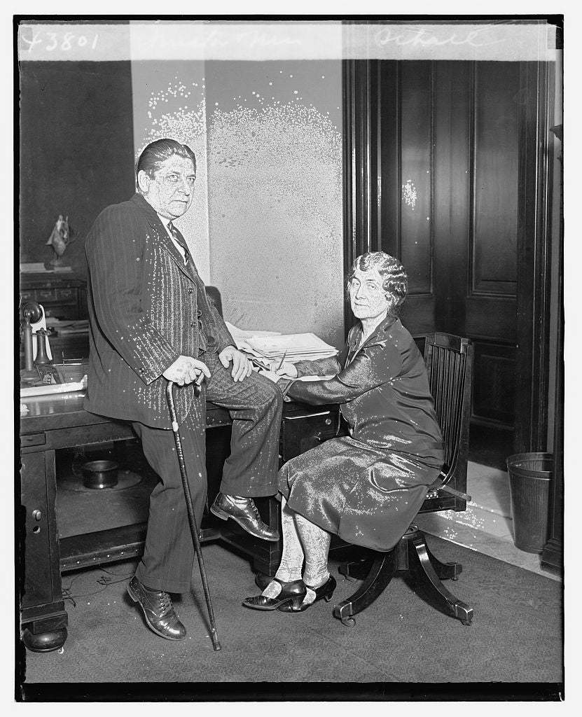 8 x 10 Reprinted Old Photo of Senator & Mrs. Schall 1921 National Photo Co  34a