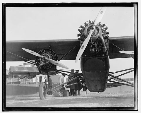 8 x 10 Reprinted Old Photo of  [Airplane] 1909 National Photo Co  00a
